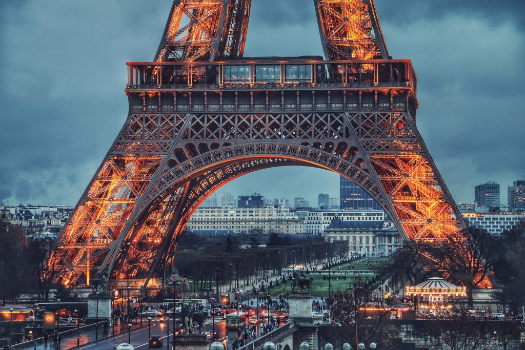 visiting and discovering Paris